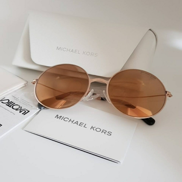 MK5017 ROSE GOLD Round Sunglasses